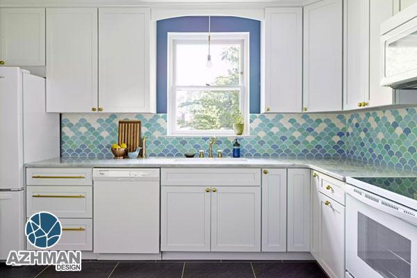 دکوراسیون آشپزخانه مدرن سفید