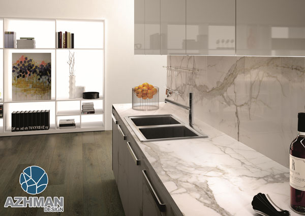 انواع سنگ روی کابینت آشپزخانه