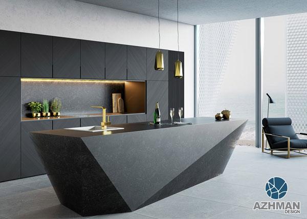 آشپزخانه جزیره ای مدرن
