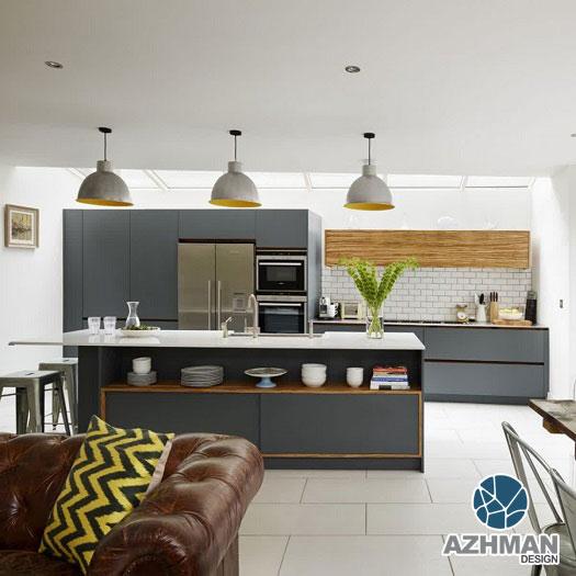 طراحی اپن آشپزخانه مدرن